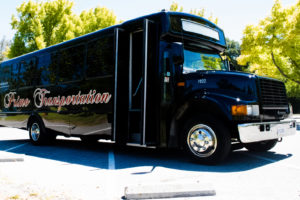 After the ceremony party bus rental