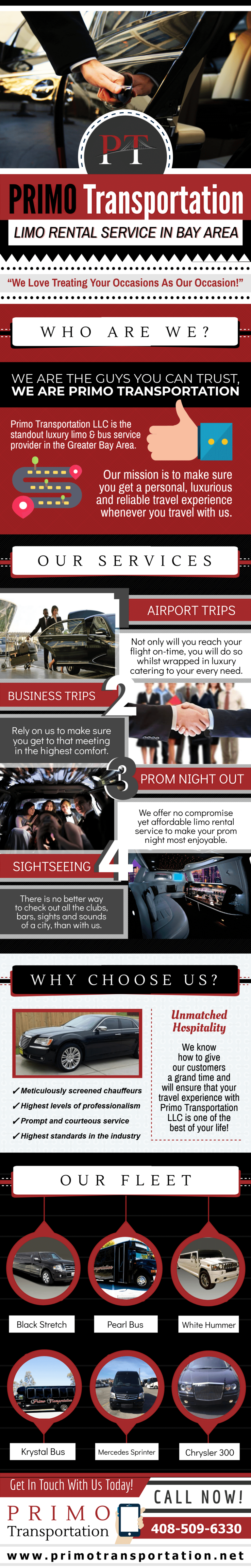 Primo Transportation - Limo Rental Service In Bay Area